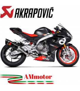 Akrapovic Aprilia RS 660 Impianto Di Scarico Completo Racing Line Terminale Carbonio Moto
