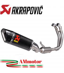 Akrapovic Aprilia Tuono 660 Impianto Di Scarico Completo Racing Line Terminale Carbonio Moto