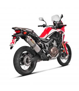 Akrapovic Honda Crf 1000L Africa Twin Adv Sports Terminale Di Scarico Slip-On Line Titanio Moto Omologato