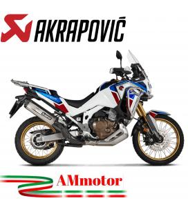 Akrapovic Honda Crf 1100L Africa Twin Terminale Di Scarico Slip-On Line Titanio Moto Omologato