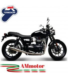 Scarico Completo Termignoni Triumph Street Twin 900 Terminale Conico Inox Moto