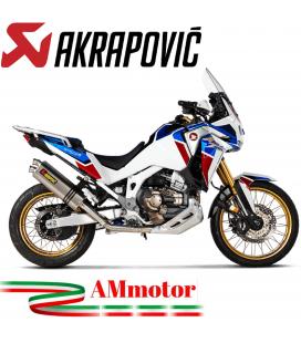 Akrapovic Honda Africa Twin 1100 Adv Sports Impianto Di Scarico Completo Racing Line Terminale Titanio Moto