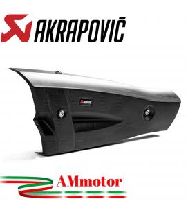 Paracalore Akrapovic In Fibra Di Carbonio Per Scarico Honda Monkey 125 Moto