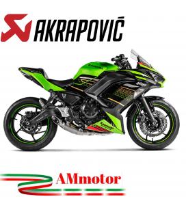 Akrapovic Kawasaki Ninja 650 2020 Impianto Di Scarico Completo Racing Line Terminale Titanio Moto