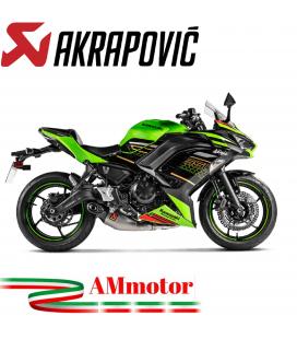Akrapovic Kawasaki Ninja 650 2020 Impianto Di Scarico Completo Racing Line Terminale Titanio Moto Omologato