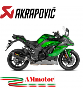 Akrapovic Kawasaki Ninja 1000 SX Terminale Di Scarico Slip-On Line Carbonio Moto Omologato