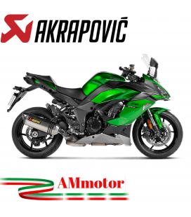 Akrapovic Kawasaki Ninja 1000 SX Terminale Di Scarico Slip-On Line Titanio Moto Omologato
