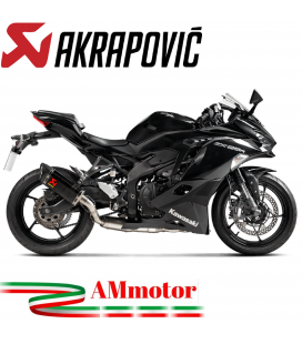 Akrapovic Kawasaki Ninja ZX 25R Impianto Di Scarico Completo Racing Line Terminale Carbonio Moto Omologato
