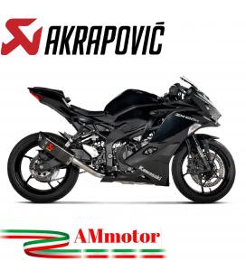 Akrapovic Kawasaki Ninja ZX 25R Impianto Di Scarico Completo Racing Line Terminale Carbonio Moto