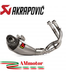 Akrapovic Kawasaki Z650 2020 Impianto Di Scarico Completo Racing Line Terminale Titanio Moto Omologato