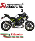Akrapovic Kawasaki Z 900 17 - 2019 Terminale Di Scarico Slip-On Line Titanio Moto Omologato