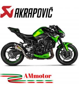 Akrapovic Kawasaki Z 900 20 - 2021 Terminale Di Scarico Slip-On Line Titanio Moto