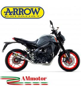 Terminale Di Scarico Arrow Yamaha MT-09 2021 Slip-On Thunder Titanio Moto Fondello Carbonio