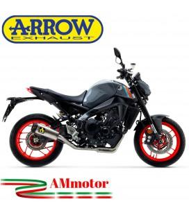 Terminale Di Scarico Arrow Yamaha MT-09 2021 Slip-On Works Titanio Moto Fondello Carbonio