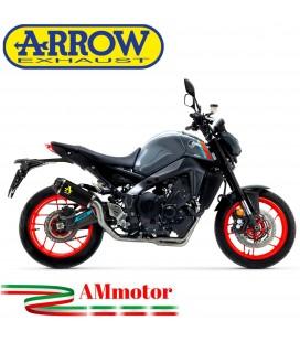 Terminale Di Scarico Arrow Yamaha MT-09 2021 Slip-On Works Nichrom Dark Moto Fondello Carbonio