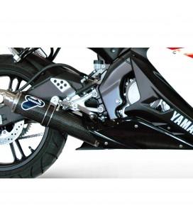 Scarico Completo Termignoni Yamaha Yzf R125 Terminale Round Carbonio Moto Racing
