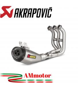 Akrapovic Yamaha Mt-09 Impianto Di Scarico Completo Racing Line Terminale Titanio Moto
