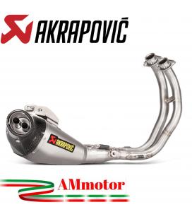 Akrapovic Yamaha Mt-07 Impianto Di Scarico Completo Racing Line Terminale Titanio Moto