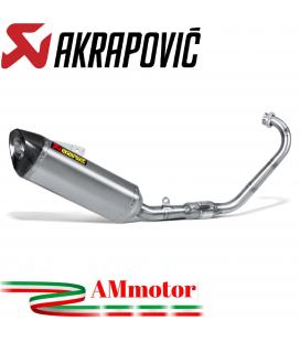 Akrapovic Yamaha Mt 125 Impianto Di Scarico Completo Racing Line Terminale Inox Moto