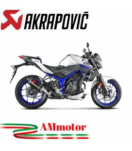Akrapovic Yamaha Mt-03 Terminale Di Scarico Slip-On Carbonio Moto Omologato