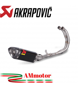 Akrapovic Yamaha Mt-03 Impianto Di Scarico Completo Racing Line Terminale Carbonio Moto