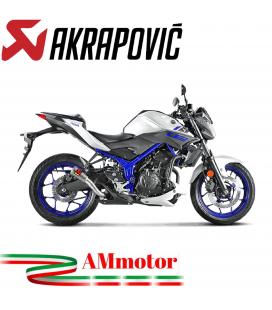 Akrapovic Yamaha Mt-03 Terminale Di Scarico Slip-On Inox Moto Racing