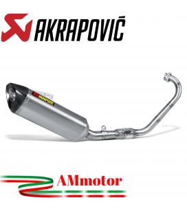 Akrapovic Yamaha Yzf R 125 Impianto Di Scarico Completo Racing Line Terminale Titanio Moto