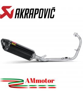 Akrapovic Yamaha Yzf R 125 Impianto Di Scarico Completo Racing Line Terminale Carbonio Moto