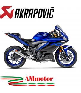 Akrapovic Yamaha Yzf R3 Impianto Di Scarico Completo Racing Line Terminale Inox Moto