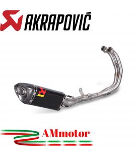 Akrapovic Yamaha Yzf R3 Impianto Di Scarico Completo Racing Line Terminale Carbonio Moto