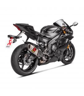 Akrapovic Yamaha Yzf R6 Terminale Di Scarico Slip-On Line Titanio Moto Omologato