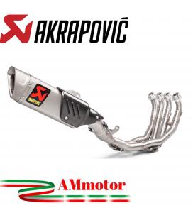 Akrapovic Yamaha Yzf R6 Impianto Di Scarico Completo Evolution Line Terminale Collettori Full Titanio Moto