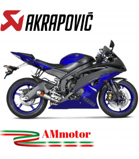 Akrapovic Yamaha Yzf R6 Terminale Di Scarico Slip-On Line Titanio Moto