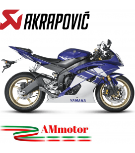 Akrapovic Yamaha Yzf R6 Terminale Di Scarico Megaphone Line Titanio Moto