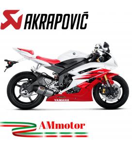 Akrapovic Yamaha Yzf R6 06 2007 Terminale Di Scarico Slip-On Line Titanio Moto Omologato