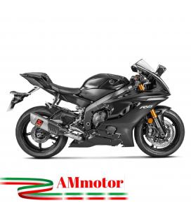 Akrapovic Yamaha Yzf R6 Impianto Di Scarico Completo Racing Line Terminale Titanio Moto