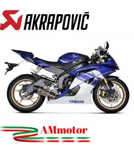 Akrapovic Yamaha Yzf R6 10 2019 Terminale Di Scarico Slip-On Line Titanio Moto