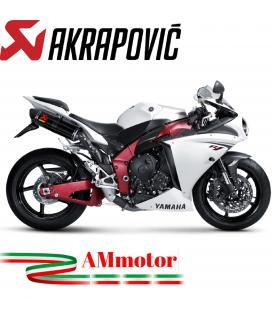 Akrapovic Yamaha Yzf R1 09 2014 Terminali Di Scarico Slip-On Line Carbonio Moto Omologati