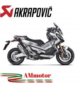 Akrapovic Honda X-Adv 750 Terminale Di Scarico Slip-On Line Titanio Moto Scooter Omologato