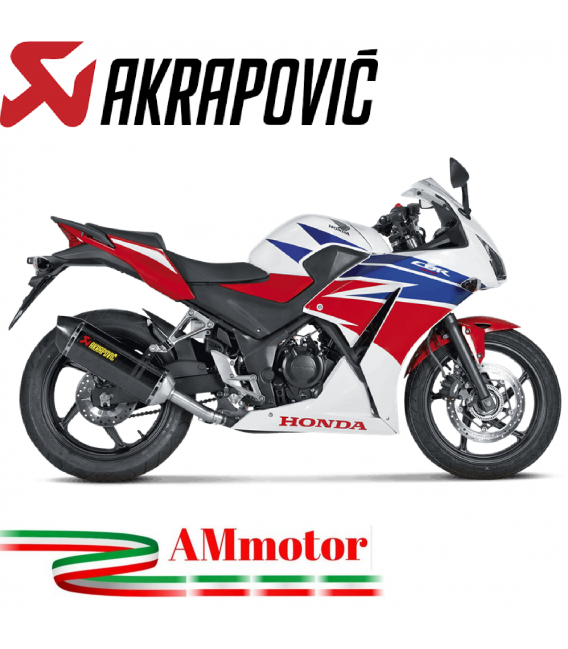 Akrapovic Honda Cbr 300 R Terminale Di Scarico Slip-On Line Carbonio Moto