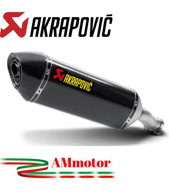 Akrapovic Honda Cbr 400 / 500 R 13 2014 Terminale Di Scarico Slip-On Line Carbonio Moto Omologato