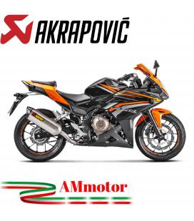 Akrapovic Honda Cbr 400 / 500 R 16 2017 Terminale Di Scarico Slip-On Line Inox Moto Omologato
