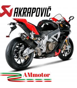 Akrapovic Aprilia Rsv 4 09 2014 Terminale Di Scarico Slip-On Line Esagonale Carbonio Moto