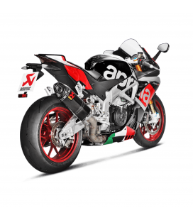 Akrapovic Aprilia Rsv 4 15 2016 Terminale Di Scarico Slip-On Line Carbonio Moto