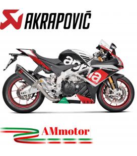 Akrapovic Aprilia Rsv 4 Impianto Di Scarico Completo Evolution Line Terminale Carbonio Moto