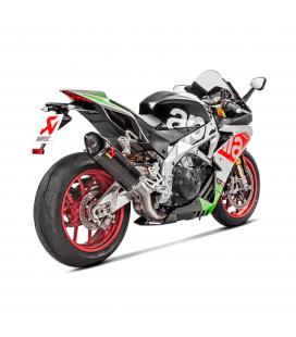 Akrapovic Aprilia Rsv 4 17 2019 Terminale Di Scarico Slip-On Line Carbonio Moto