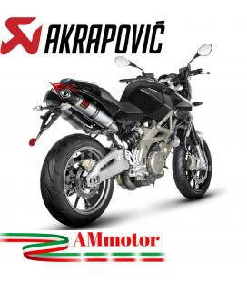 Akrapovic Aprilia Shiver 750 Terminali Di Scarico Slip-On Line Titanio Moto Omologato