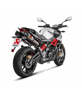 Akrapovic Aprilia Shiver 900 Terminali Di Scarico Slip-On Line Titanio Moto Omologato