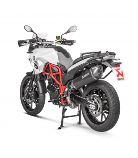 Akrapovic Bmw F 650 Gs Terminale Di Scarico Slip-On Line Titanio Black Moto Omologato
