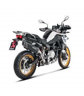 Akrapovic Bmw F 750 Gs Terminale Di Scarico Slip-On Line Titanio Black Moto Omologato